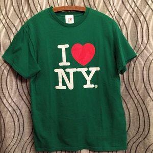 I LOVE NY T-SHIRT GREEN New York Official Medium